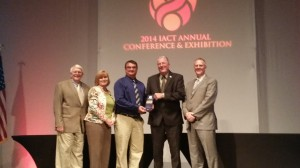 Vincennes Receives IACT Community Achievement Award. Duane Chattin, Cheryl Hacker, Steve Beaman, Mayor Joe Yochum, Andy Myszak